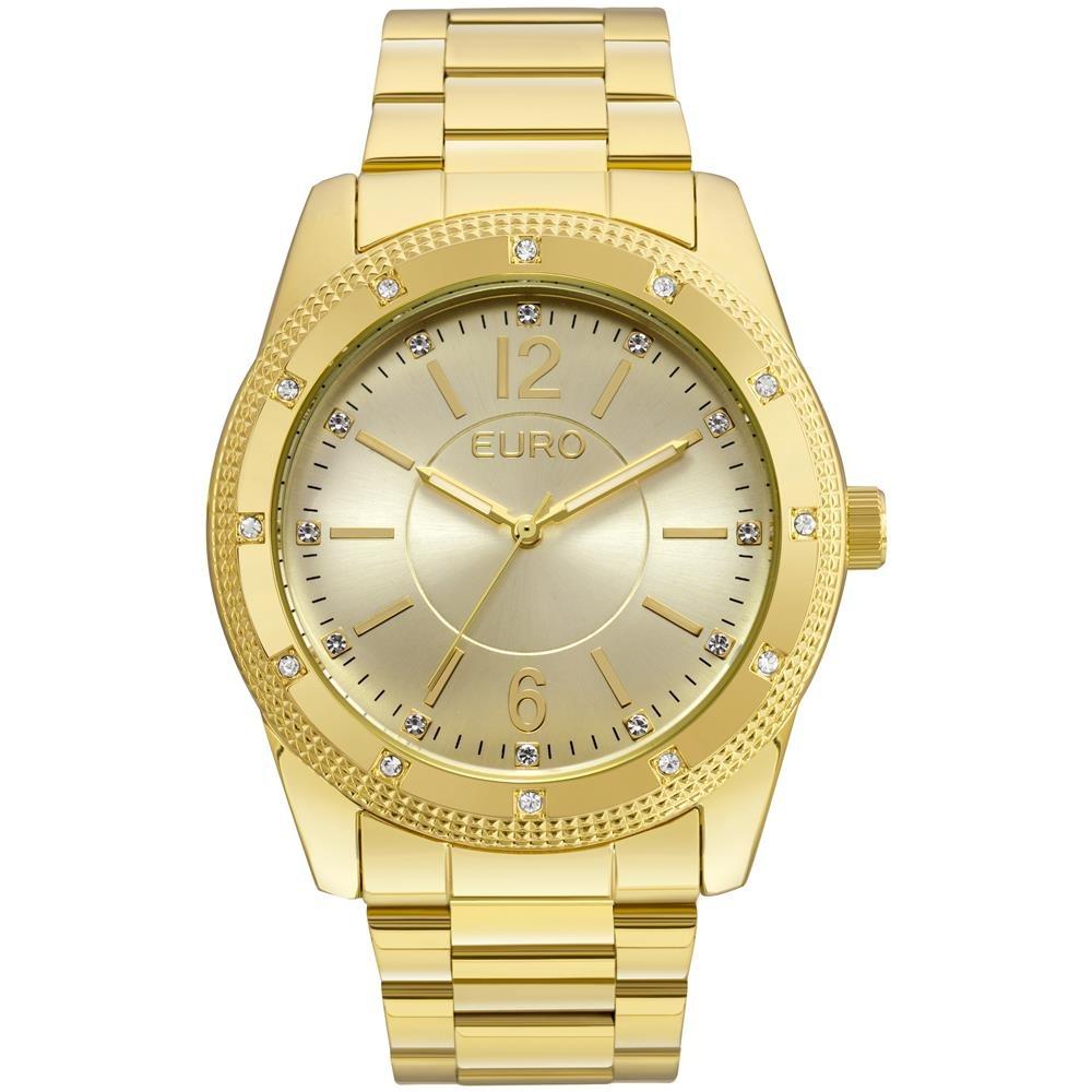 b26b6bb5ece Relógio Feminino Analógico Euro Eu2035ymo 4d - Dourado - R  249