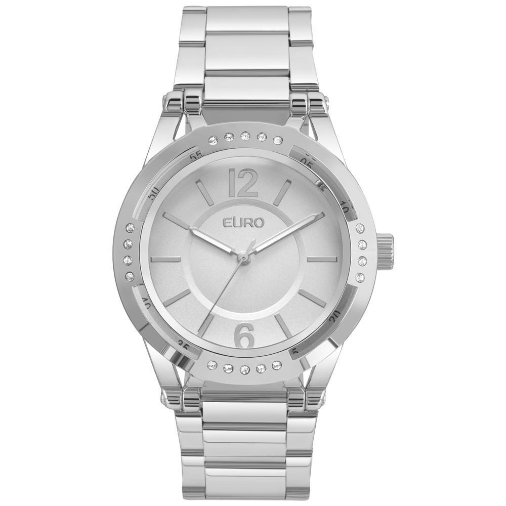 76a35a04f39 Relógio Feminino Analógico Euro Eu2035ymr 3k - Prata - R  236