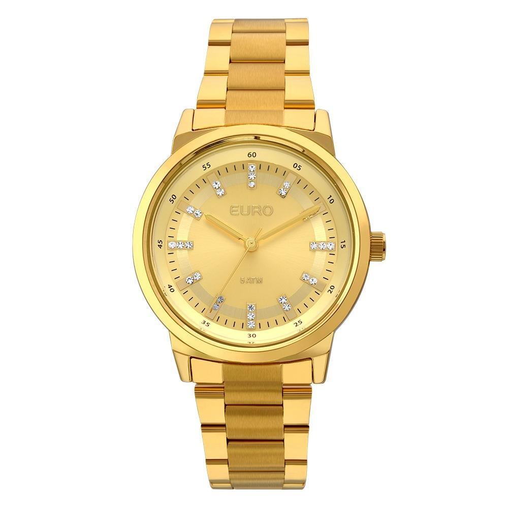 0dd1c640df7 Relógio Feminino Analógico Euro Eu2036ylf 4d - Dourado - R  217