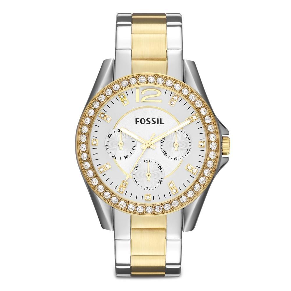 6f1c2c2c09e relógio feminino analógico fossil es3204 5bn prata dourado. Carregando zoom.