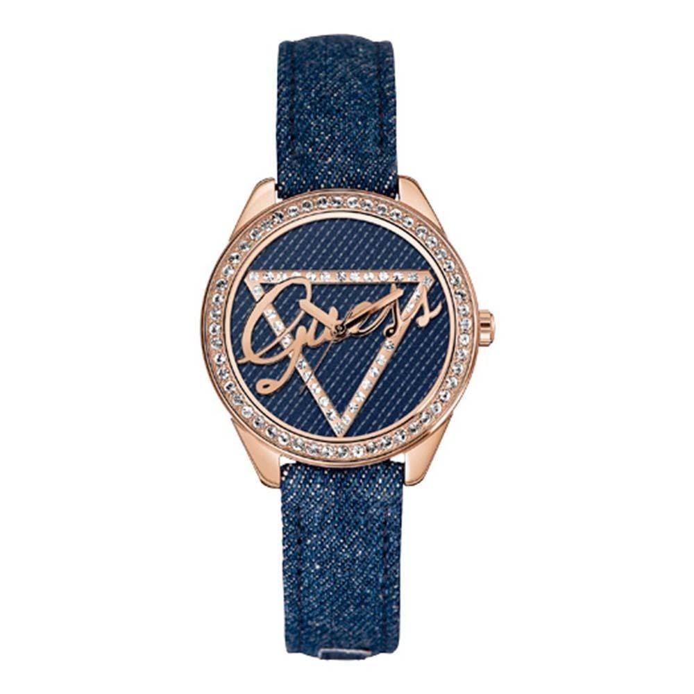 335f09096ba Relógio Feminino Analógico Guess Jeans 92546lpgtrc1 Azul Ibi - R  389