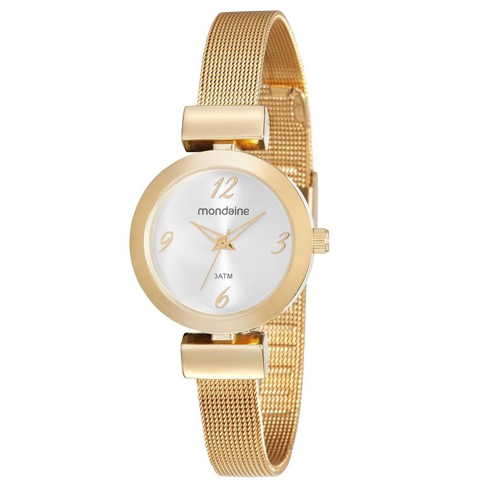 8060acbdce25d relógio feminino analógico mondaine 53555lpmvde1 dourado. Carregando zoom.