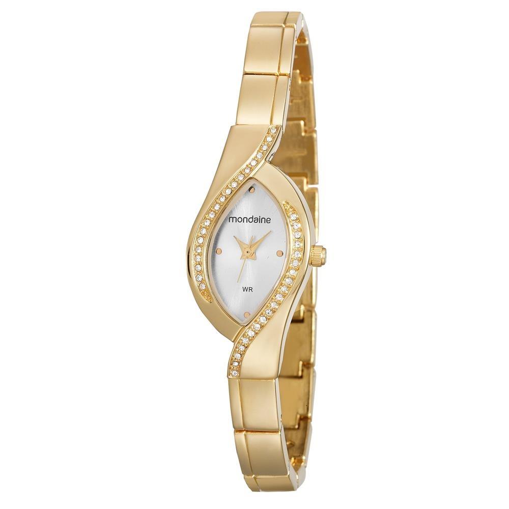a887eeab351 relógio feminino analógico mondaine 53565lpmvde1 dourado. Carregando zoom.
