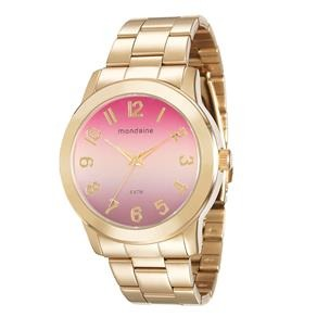 ae789e9fad495 Relógio Feminino Analógico Mondaine 76514lpmvde4 Dourado - R  168,90 ...