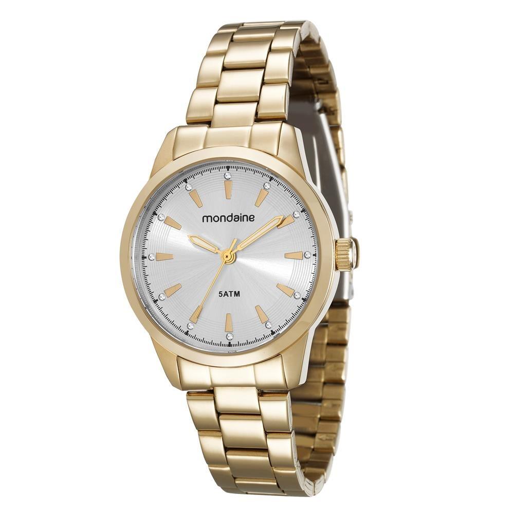 092dec5555a relógio feminino analógico mondaine 78659lpmvda1 dourado. Carregando zoom.