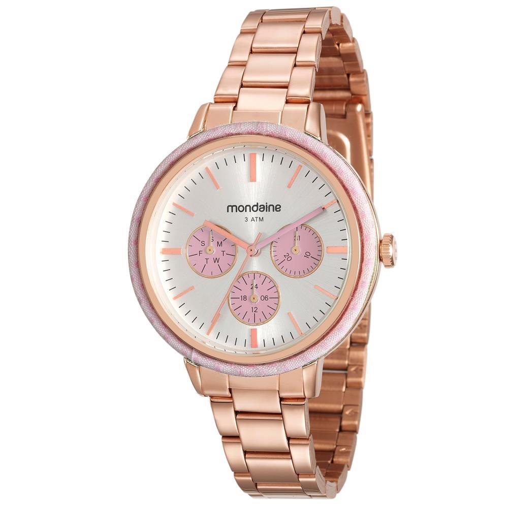 015fc58c63c relógio feminino analógico mondaine 89002lpmvre3 - rosé. Carregando zoom.