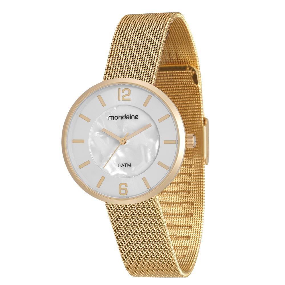 0d9110a64c32f relógio feminino analógico mondaine 94876lpmvde1 - dourado. Carregando zoom.
