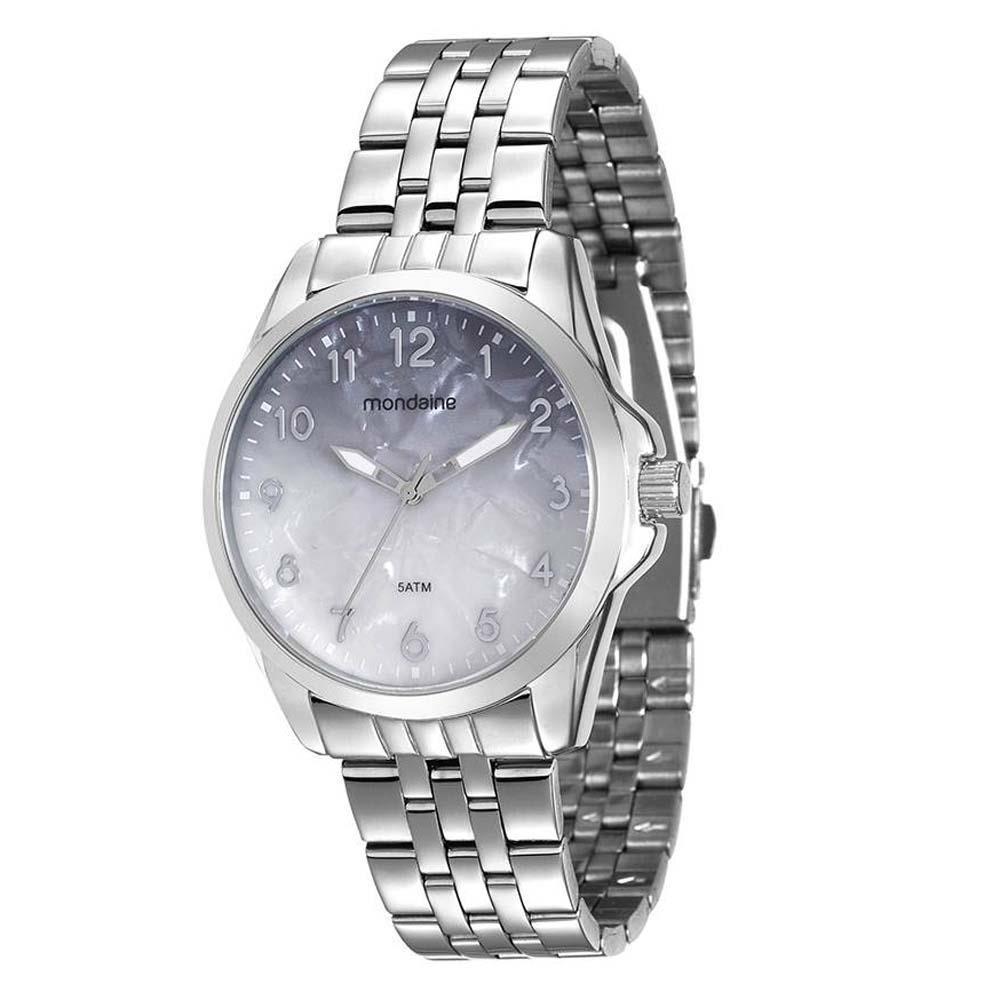 557cceb3fb7 relógio feminino analógico mondaine 99004lpmvne3 - cromado. Carregando zoom.