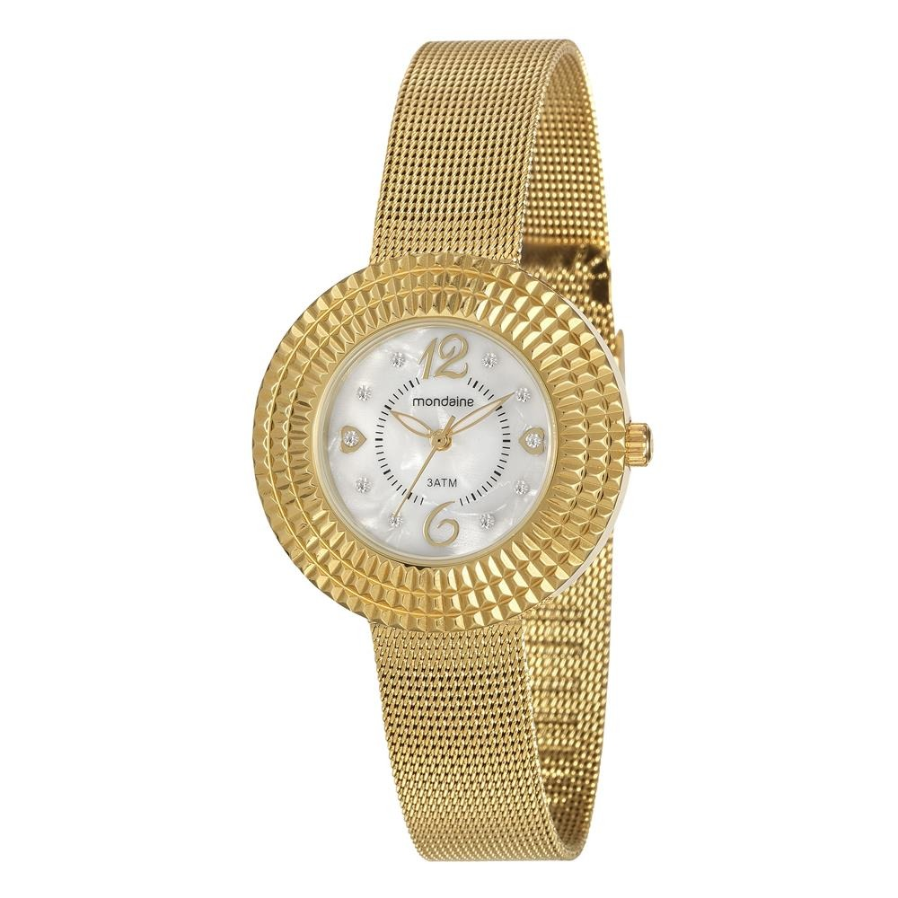 01155f361d3 relógio feminino analógico mondaine 99218lpmvde1 - dourado. Carregando zoom.