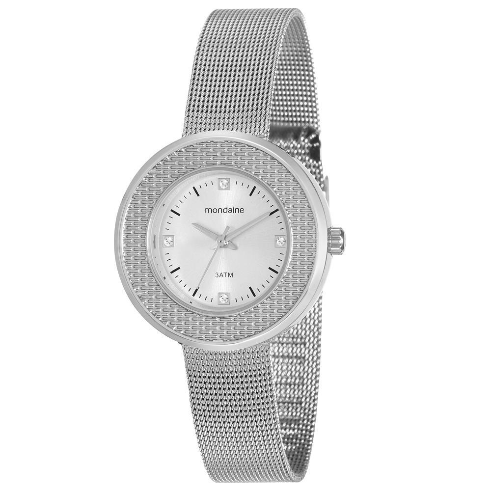 7d38daa5dbb relógio feminino analógico mondaine 99219l0mvne2 - prata. Carregando zoom.