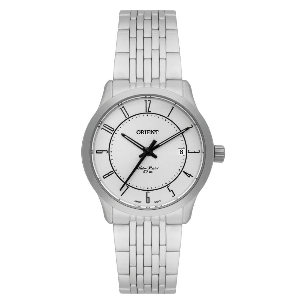 f4f3a9529a2 Relógio Feminino Analógico Orient Fbss1106s2sx - Prata - R  231