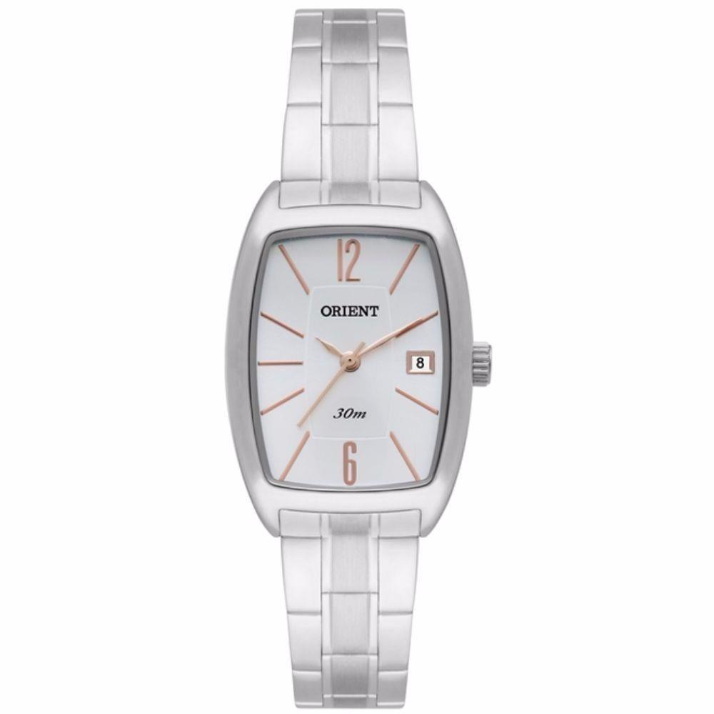 51db1d2a2dc relógio feminino analógico orient prata quadradp. Carregando zoom.