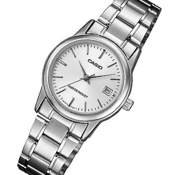 36aa499582f Relógio Feminino Analógico Prata Wr Casio Ltp-v002d-7audf - R  189 ...