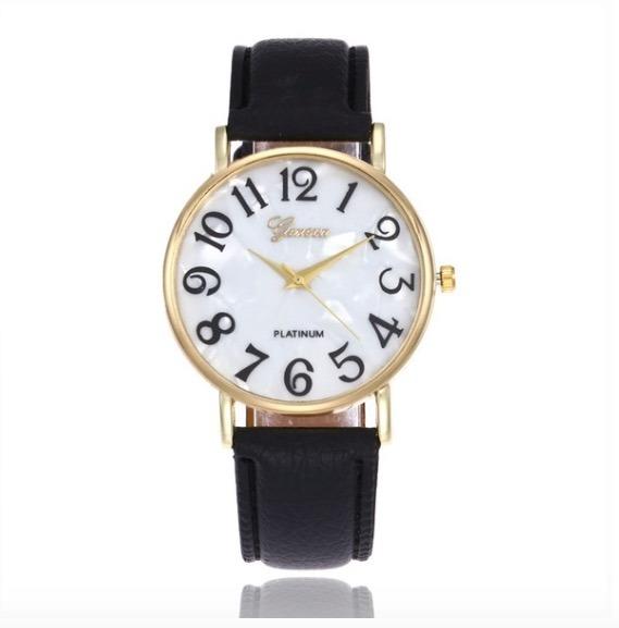 fd125d21c50 Relógio Feminino Analógico Preto Couro Barato - R  49