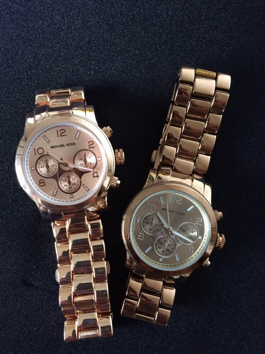 c78972f8bd6 relógio feminino analógico rosé ou marrom. Carregando zoom.