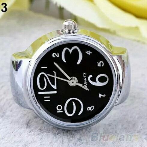 9b39af7c73b Relógio Feminino Anel De Dedo Quartz Várias Cores - R  60