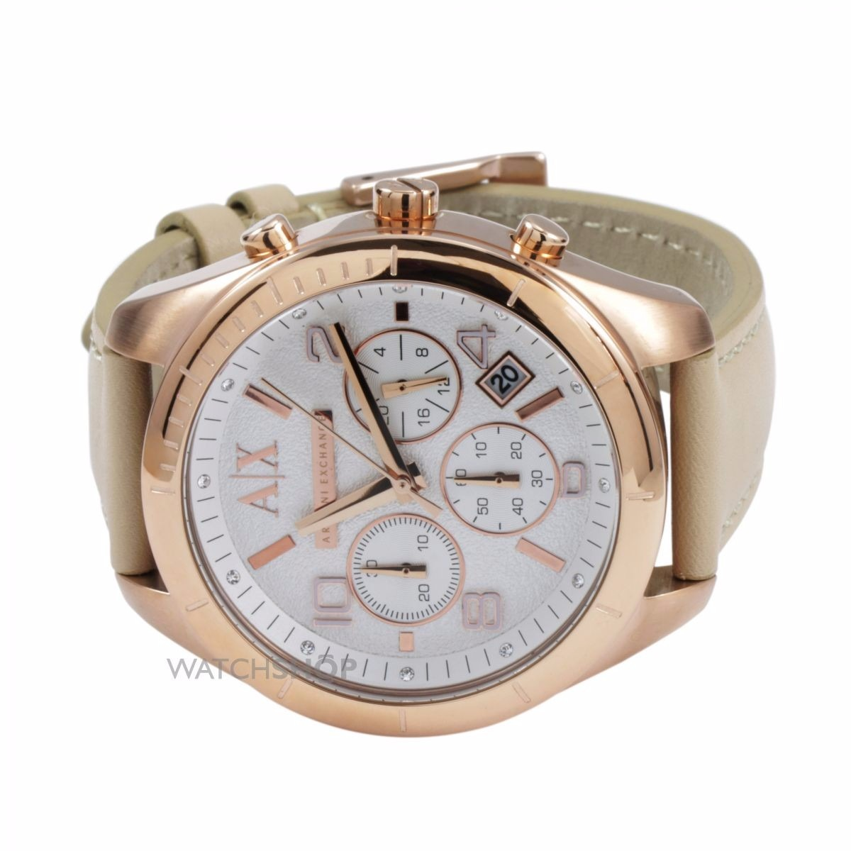 5aeac1047f4 relógio feminino armani exchange ax5504 sarena chronograph j. Carregando  zoom.