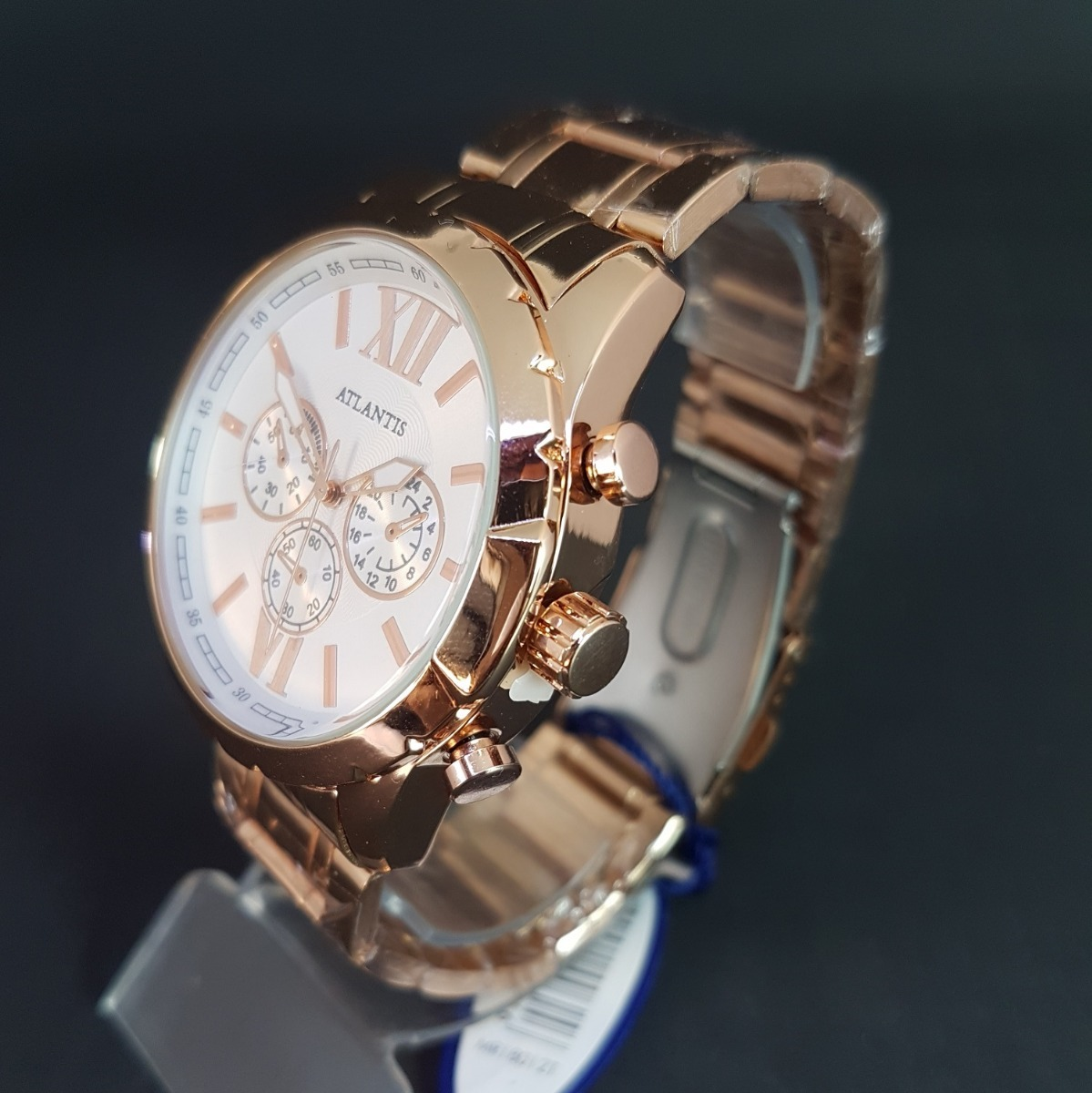 6b68dcecee0 relógio feminino grande barato dourado original atlantis. Carregando zoom...  relógio feminino atlantis. Carregando zoom.