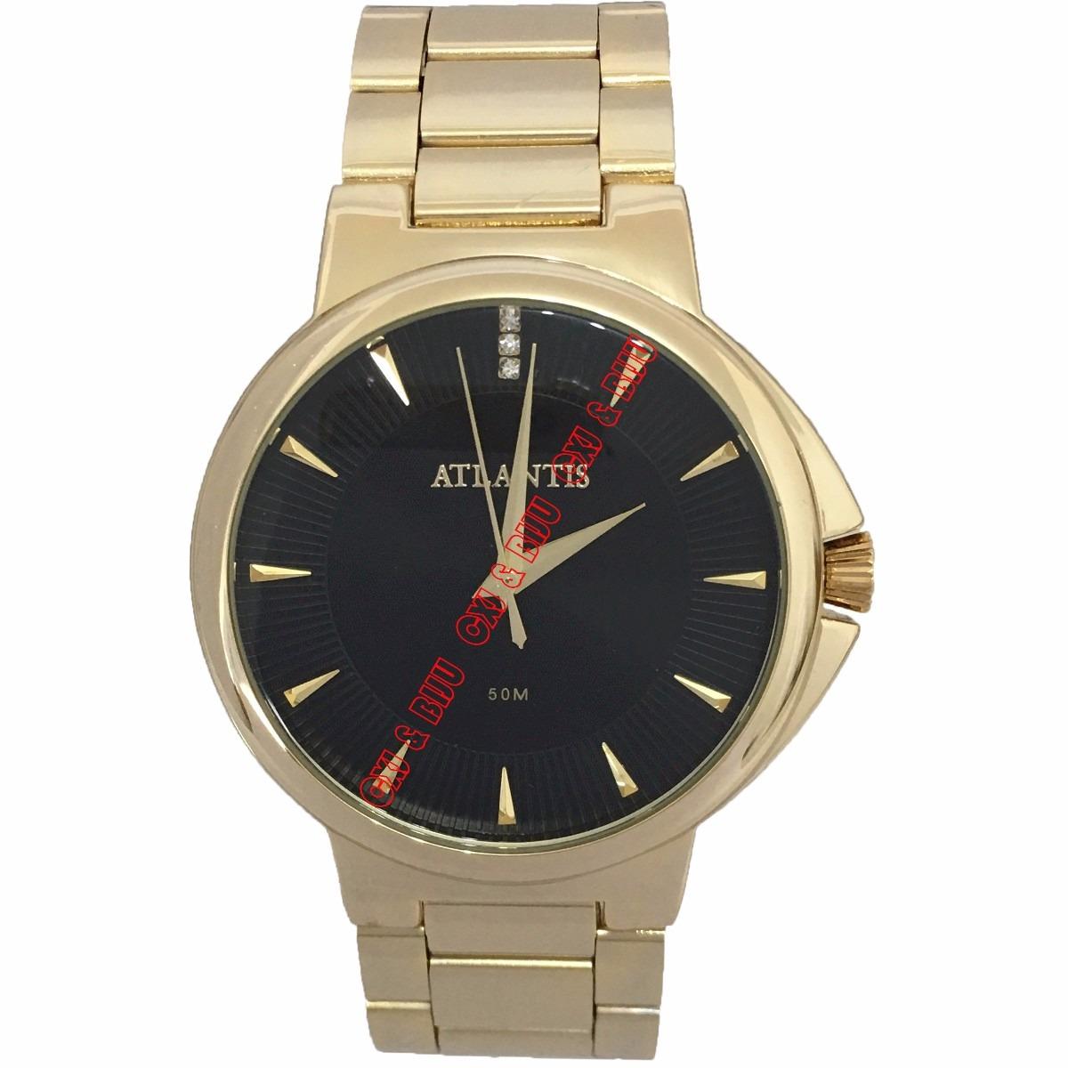 7a5f5678b33 Relógio Feminino Atlantis Aço Folheado Ouro Diametro 4