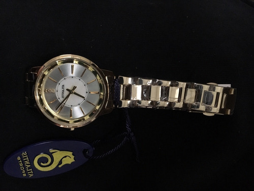 relógio feminino atlantis original dourado