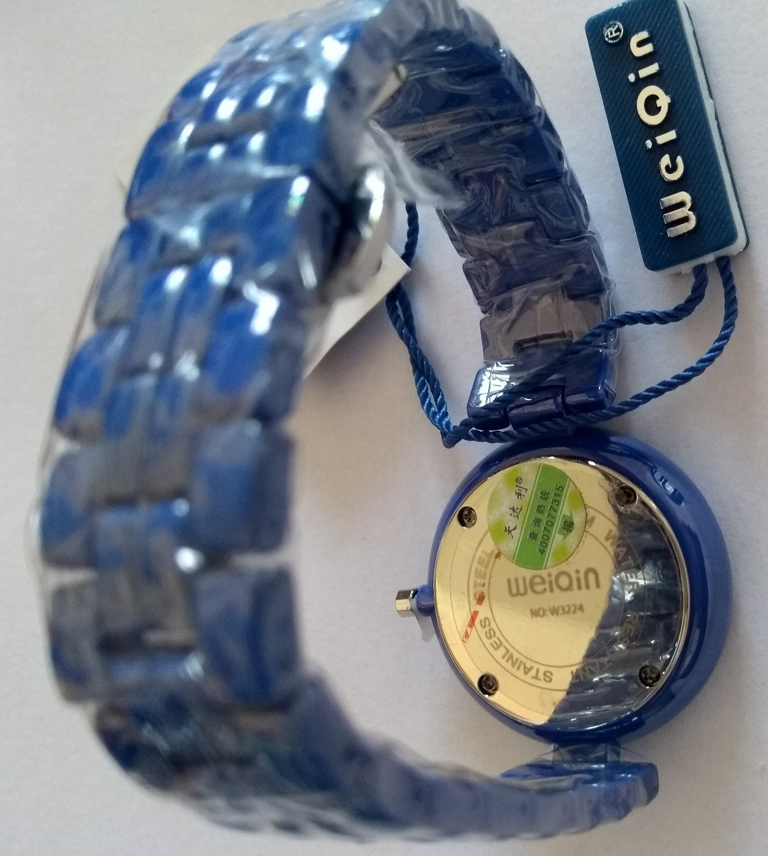 c160e2869f0 relógio feminino azul weiqin w3224 cerâmic não aprova d água. Carregando  zoom.