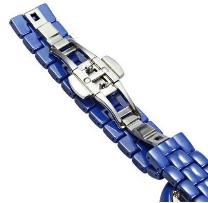 f906e1f6cb4 Relógio Feminino Azul Weiqin W3224 Cerâmic Não Aprova D água - R ...
