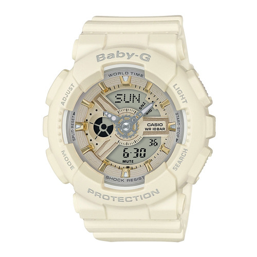 relógio feminino baby-g analógico digital ba-110ga-7a2dr