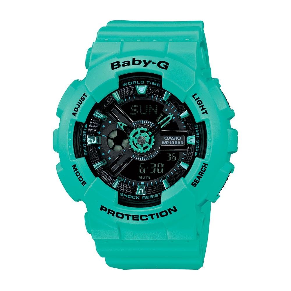 d52a387367f relógio feminino baby-g analógico digital ba-111-3adr. Carregando zoom.