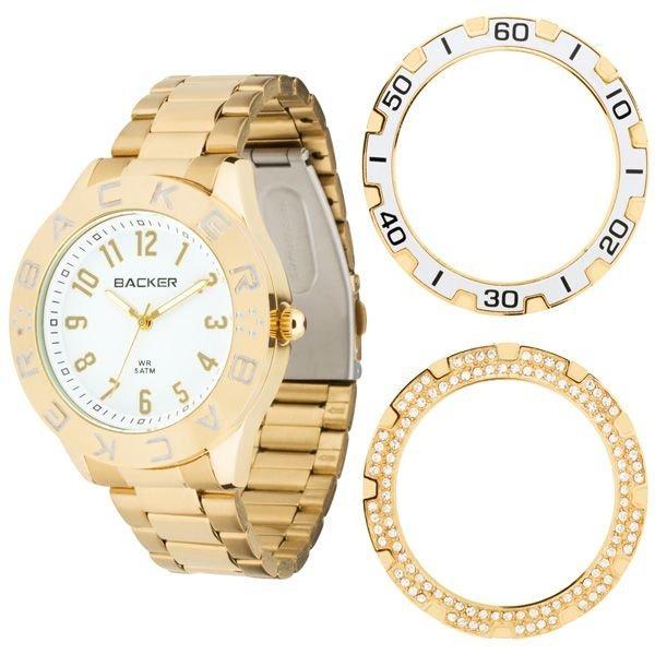 748800fd4d0 Relógio Feminino Backer 3311145f Br Kassel Troca Aro - R  346