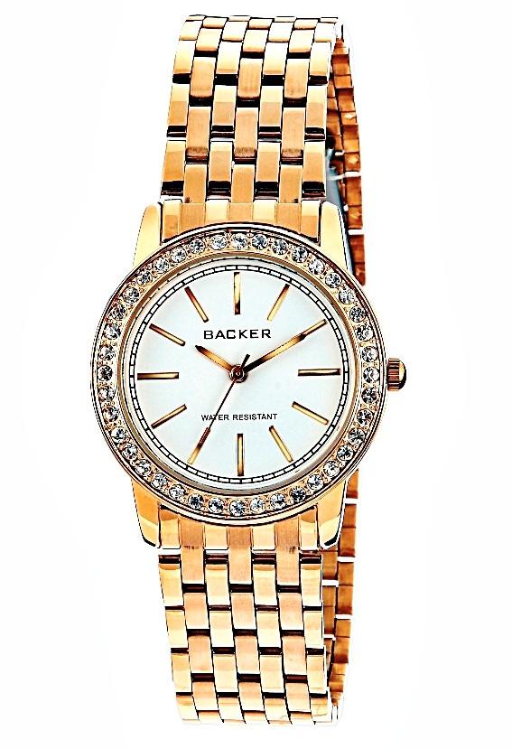 d9f36078f36 Relógio Feminino Dourado Fashion Quartz Backer 3004145f - R  119
