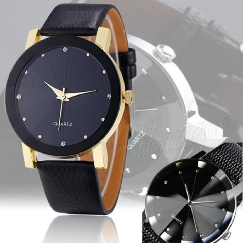 a6a1741322e relógio feminino barato analógico pulseira couro sintético. Carregando zoom.