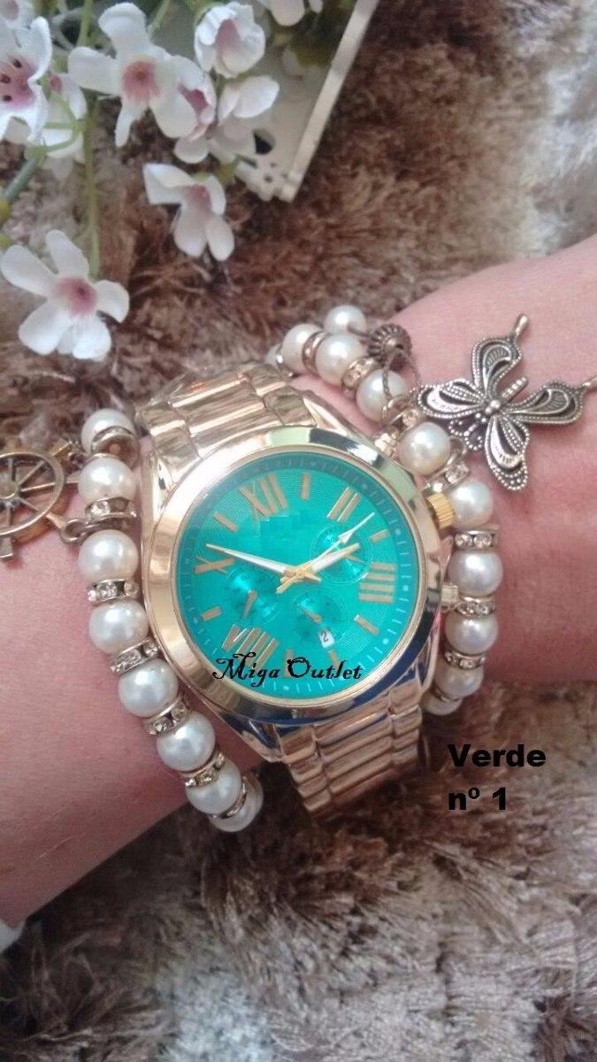 9569f0df6db relógio feminino barato lindo dourado. Carregando zoom.