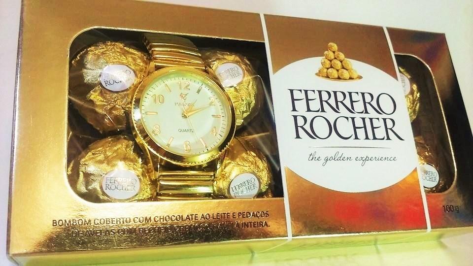 86faaae6c08 relógio feminino barato marca famosa na caixa de bombom. Carregando zoom.