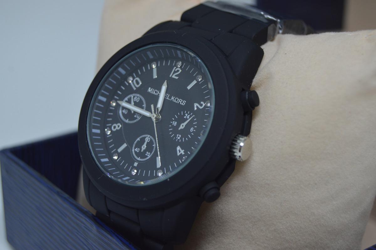 2eb44b96767 Relógio Feminino Barato Preto Pulseira De Metal Aço Moderno - R  99 ...