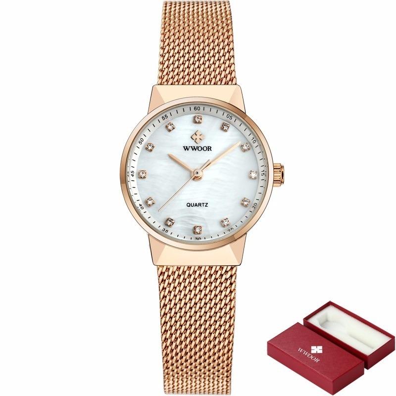 60a0f3772100f Relógio Feminino Barato Pulseira Fina Em Malha De Aço - R  129,00 em ...
