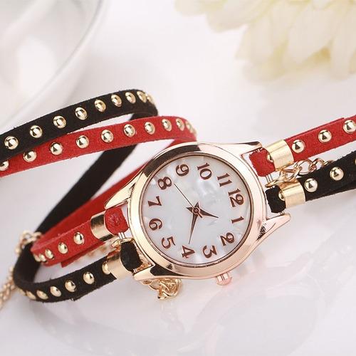 relógio feminino bracelete dourado pronta entrega barato top