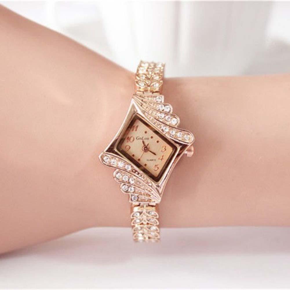 4fd71db90 relógio feminino bracelete dourado strass promoção barato. Carregando zoom.