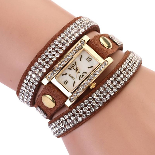 relógio feminino bracelete para festas eventos luxo v8