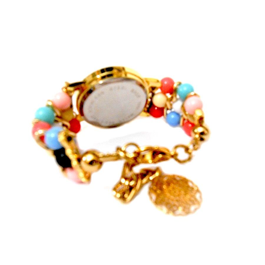 2aee37e0dc3 relógio feminino bracelete pedras coloridas fashion. Carregando zoom.