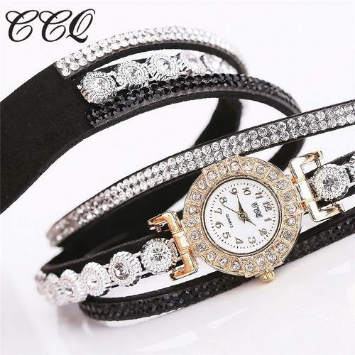 relógio feminino bracelete pulseira p/ festas lindo presente