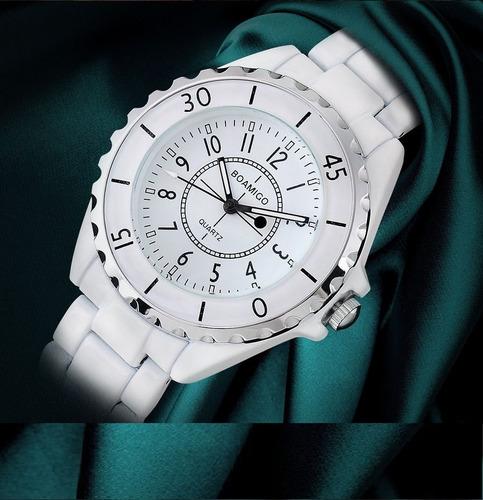 relógio feminino  branco cerâmica original promoção