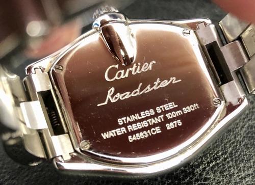 relógio feminino cartier modelo roadster