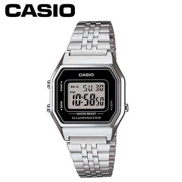 64308a1f23b Relógio Feminino Digital Casio Vintage Prata