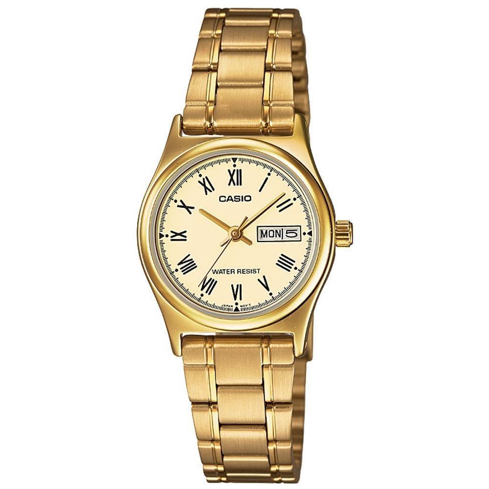 55d9f1c22dc Relógio Feminino Analógico Casio Ltp-v006g-9budf - Dourado - R  178 ...