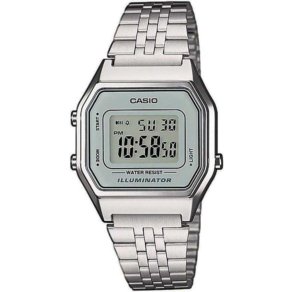 279660bfa69 Relógio Feminino Digital Casio Vintage La680wa-7df Prata - R  209