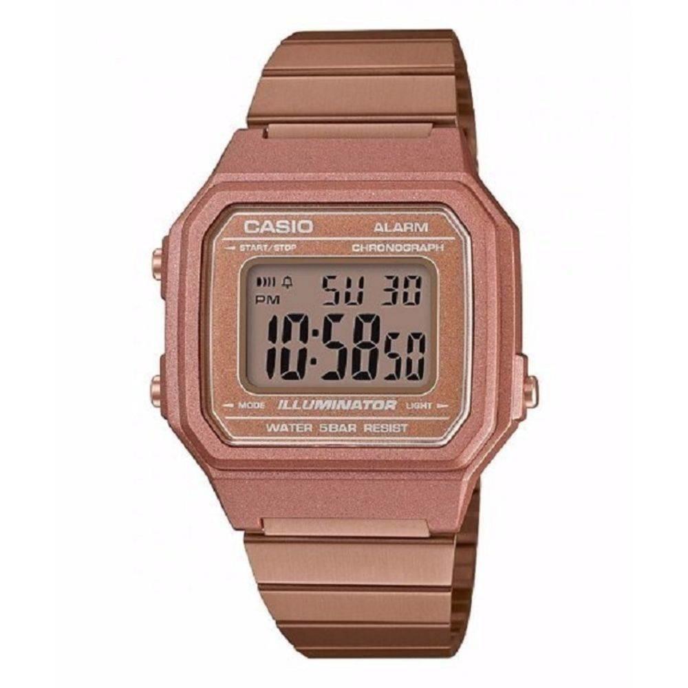 2b5499f5e61 Relógio Feminino Casio Vintage Digital B650wc-5adf - Rose - R  379 ...