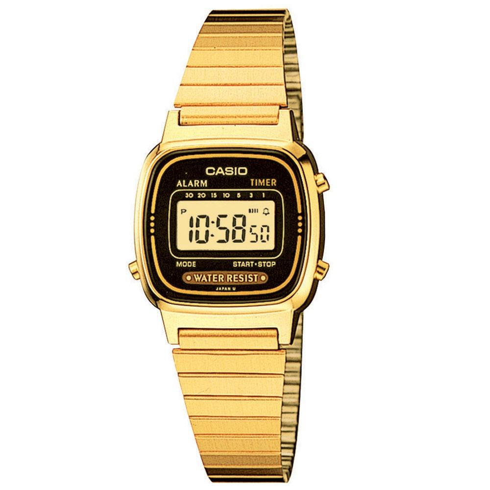 5dfb71997e6 Relógio Feminino Digital Casio La670wga1df - Dourado - R  175