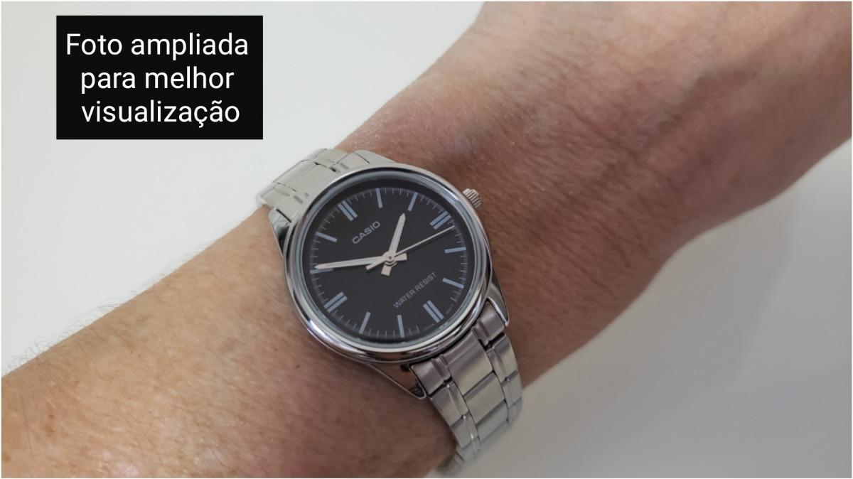 052b864e288 relógio feminino casio aço prata analógico mtp v005d 1audf. Carregando zoom.