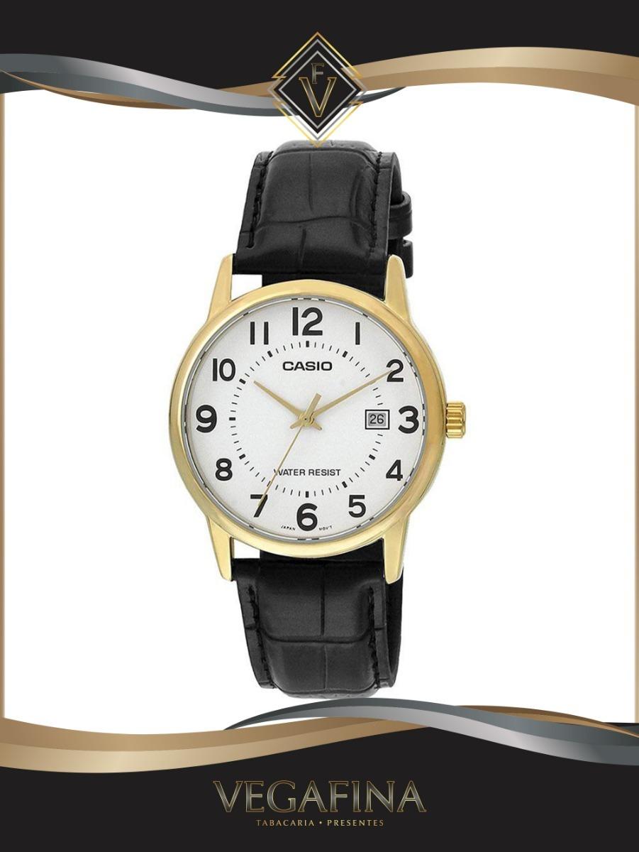 8c89cafb208 relógio feminino casio analógico ltp-v002gl-7b2udf - dourado. Carregando  zoom.