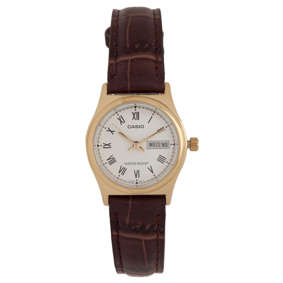 b7f43134aff relógio feminino casio analógico ltp-v006gl7budf - dourado. Carregando zoom.